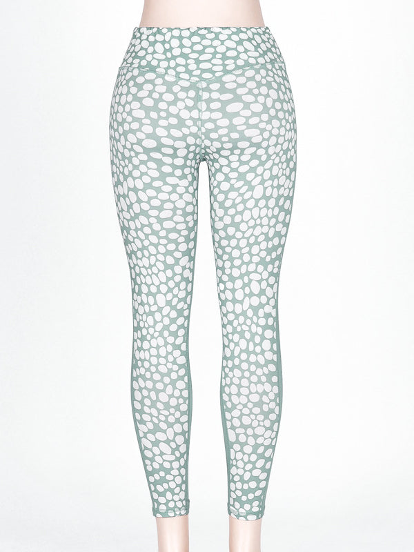 Polka-dot Printed Tank&Leggings Sports Suits - Zebrant
