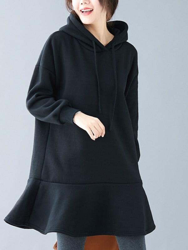 Loose Split-joint Sweatshirt Dress - Zebrant