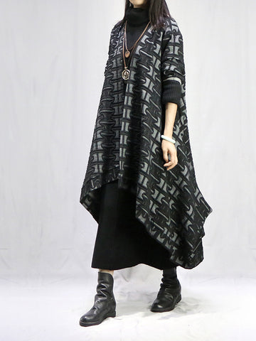 Vintage Printed Cape Outwears - Zebrant