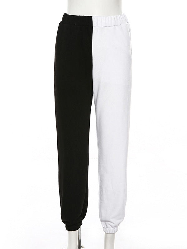 Empire Split-Joint Contrast Color Sports Pants ACTIVE WEAR - Zebrant