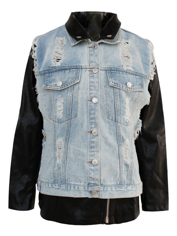 Two-piece Fringed Split-joint Denim Vest&Outwears - Zebrant