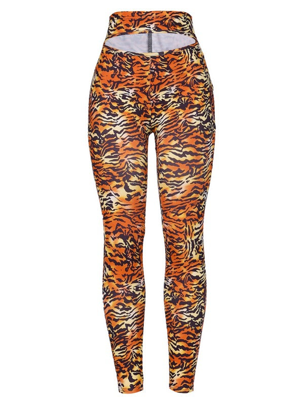 Leopard Printed High Waist Breathable Leggings ACTIVE WEAR - Zebrant