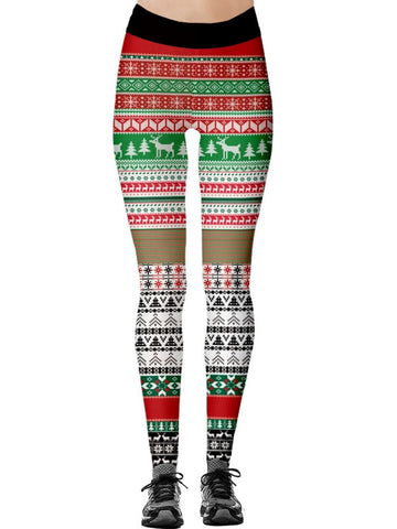 Christmas Elastic Printed Legging ACTIVE WEAR