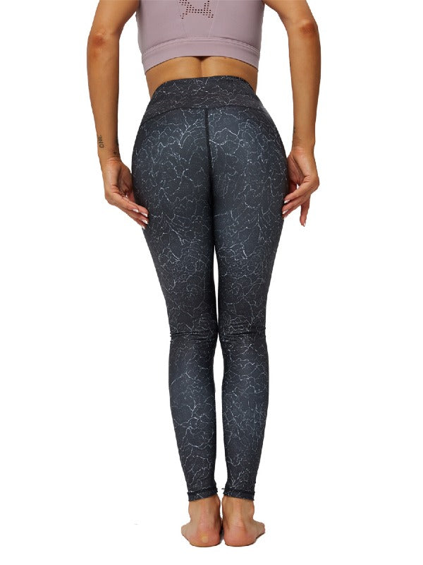 Floral Printed Sports Yoga Leggings ACTIVE WEAR - Zebrant