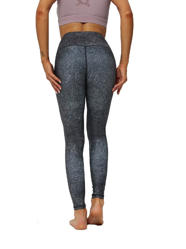 Printed Sports High Waisted Yoga Leggings ACTIVE WEAR - Zebrant