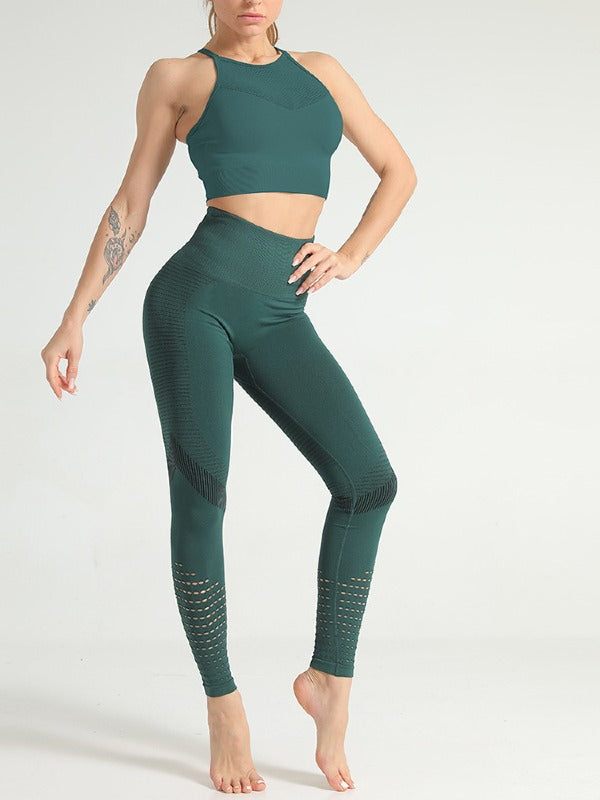 4 Colors Gym Sport Hoodie And Leggings Suit ACTIVE WEAR - Zebrant