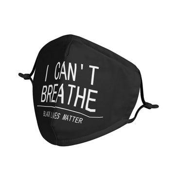 I can't breathe printed mask - Zebrant