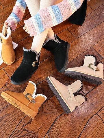 Winter Korean Style Uggs Snow Trendy Boots - Zebrant