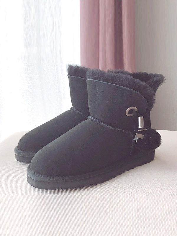 2018 Waterproof Warm Wool Cotto Ball Shoes Uggs - Zebrant