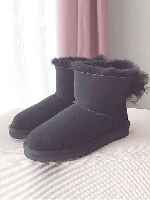 Artificial Leather Wool Non-Slip Tube Short Boots Uggs - Zebrant