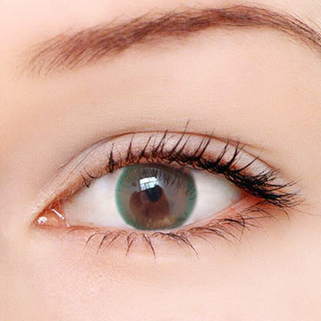 Olive Green Ring Contact Lenses - Zebrant