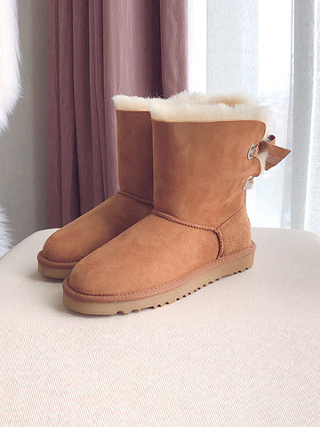 Bow Thickening Warm Boots Snow Boots Uggs - Zebrant