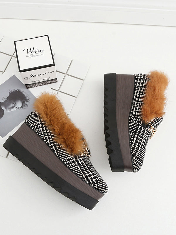 Artificial Fur Plus Velvet Sponge Bottom Shoes