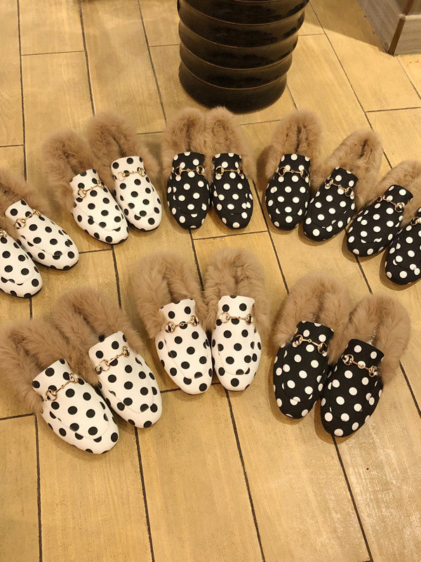 Autumn Winter New Artificial Fur Trendy Shoes