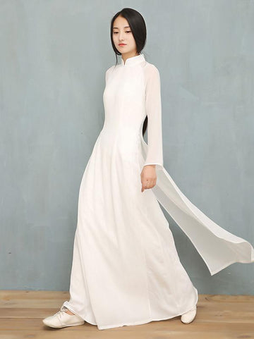 Split-side Long Cheongsam Dress