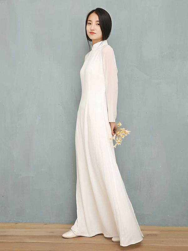 Chinese Traditional Split-side Long Dress - Zebrant