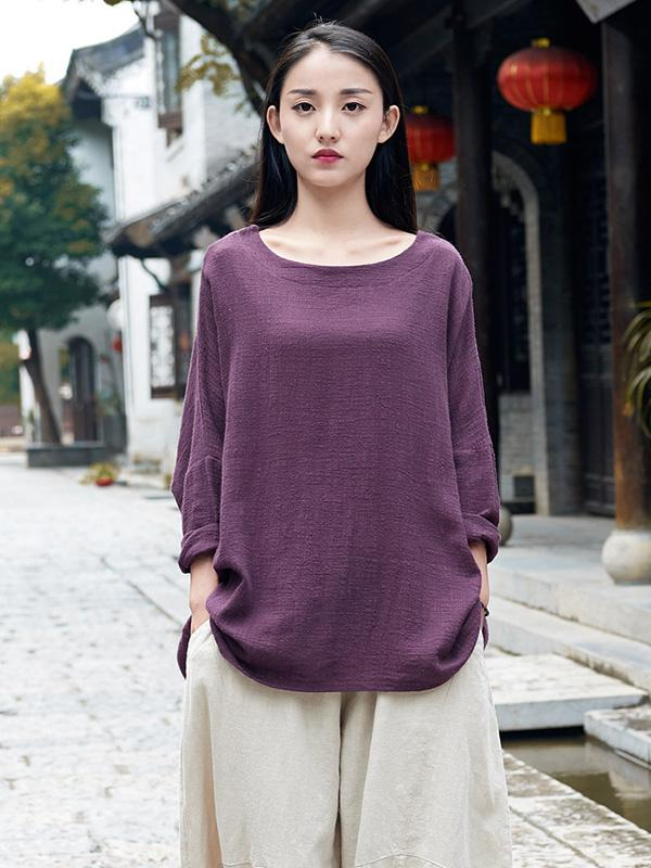 Original Long Loosen Cotton Tops - Zebrant