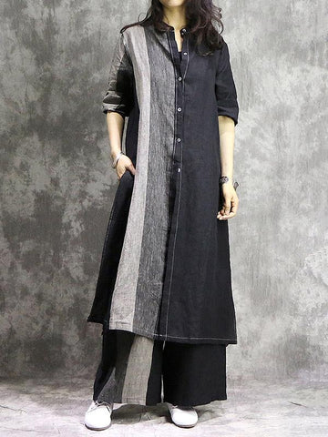 Irregular Trendy Long Suit from Classical Material