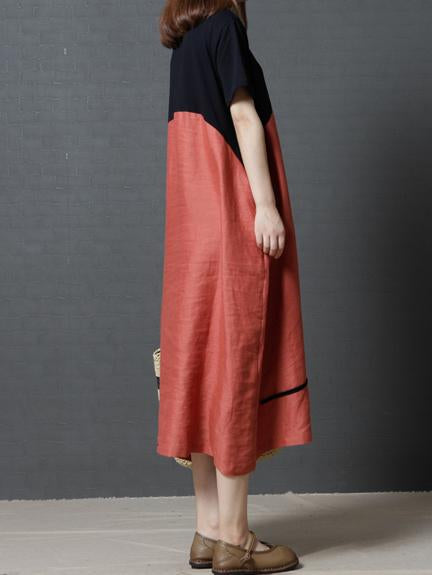 Original Vacation Long Dress in Orange or Coffee Color - Zebrant