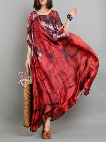Bohemia Vintage Art Silk Long Dress, Three Colors - Zebrant