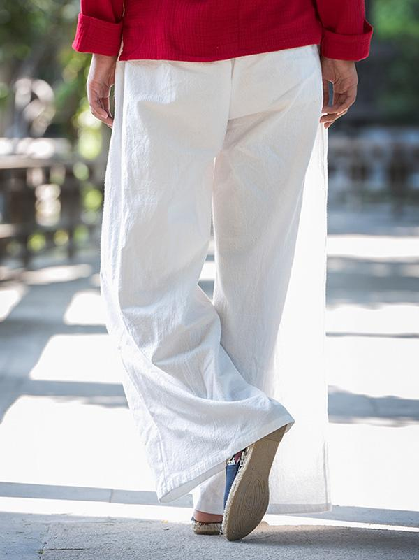 Casual Long Loosen Linen Pants in Different Colors - Zebrant