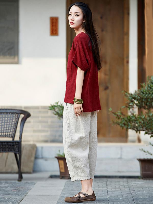 Casual Long Loosen Bloomers Pants in Different Colors - Zebrant