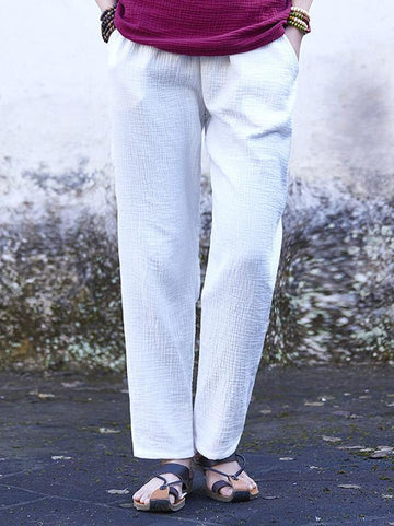 Casual Original Simple Linen Pants, Seven Colors - Zebrant