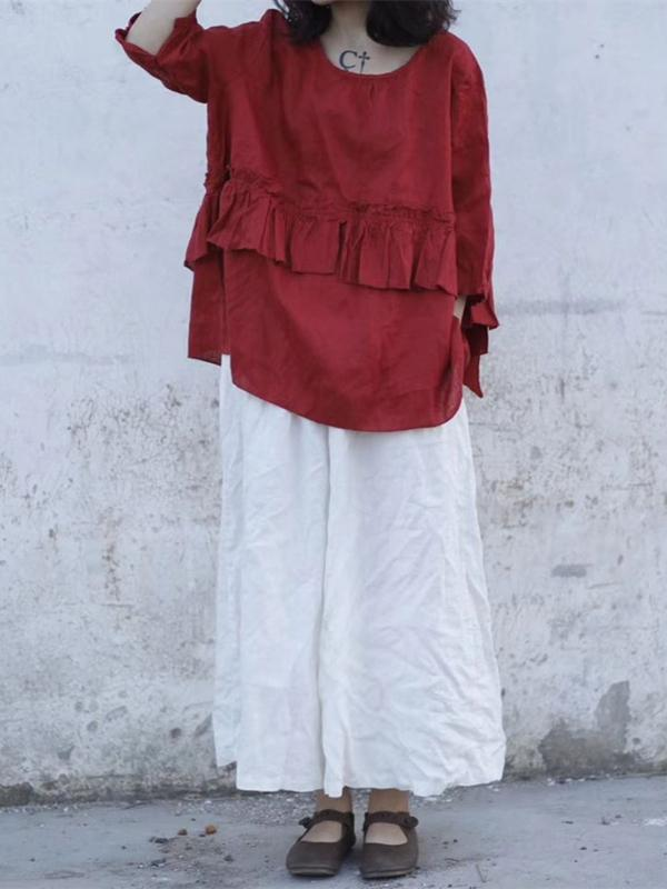 Super Loose Linen Cotton Pants - Zebrant