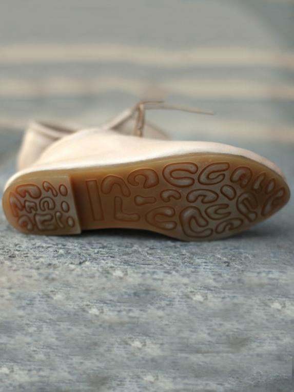 Traditional Style Leather Laces Casual Shoes