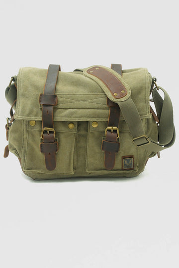 Canvas Multifunctional Leisure Shoulder Bag Backpack Messenger - Zebrant