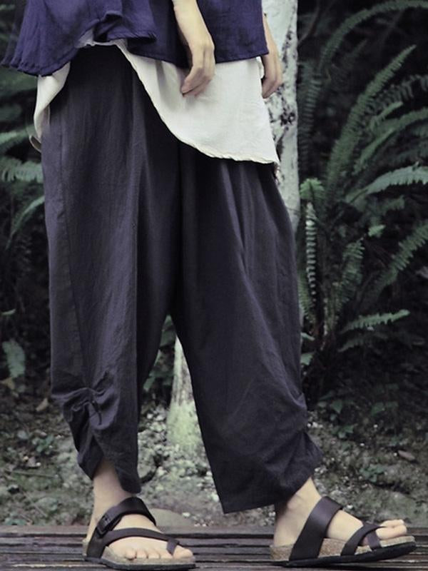 Comfortable Loose Casual Cotton Harem Pants - Zebrant