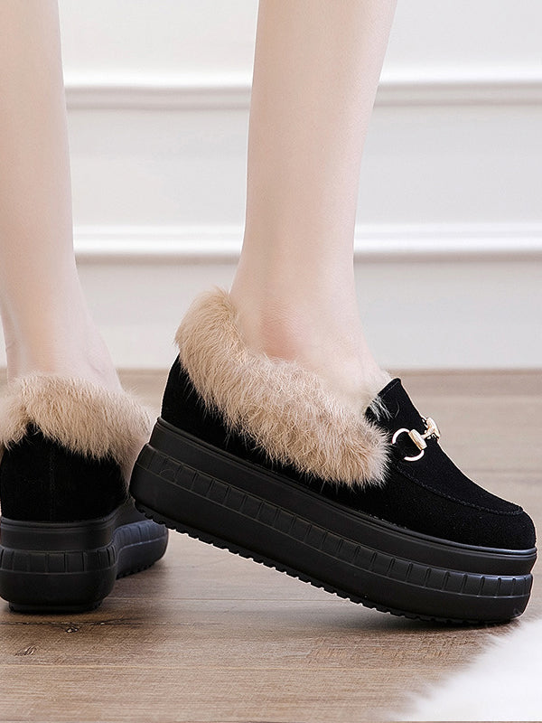 Thick-Bottomed Flaffy High Women Shoes