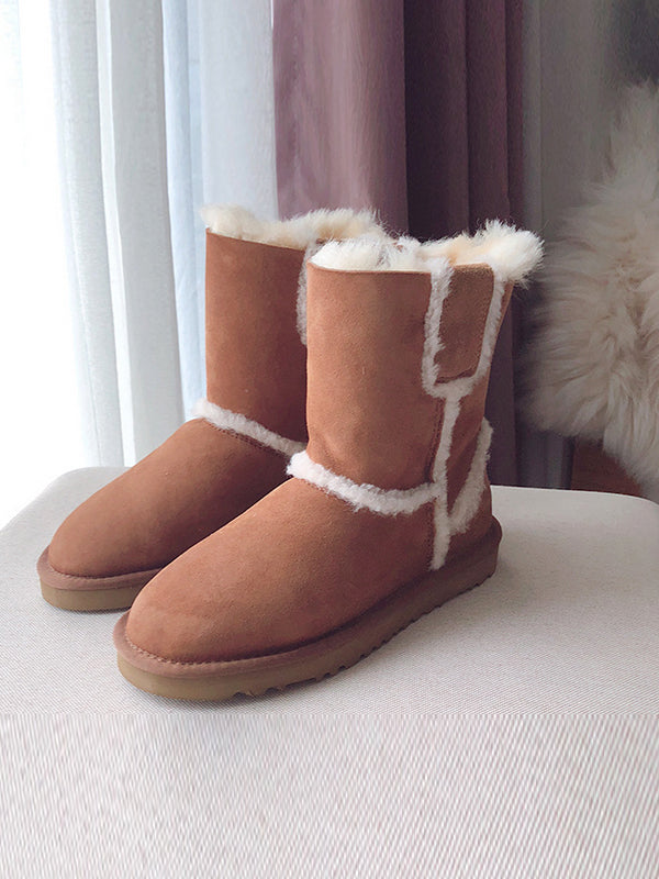 2018 New Female Wool Snow Fashion Boots Uggs - Zebrant