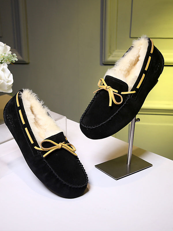Sheep Fur One Low To Help Keep Warm Cotton Shoes - Zebrant
