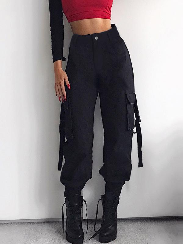3 Colors High Waist Cargo Pants For Women - Zebrant