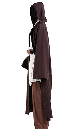 Halloween Tunic Costume Set Cosplay Outfit Brown with White - Zebrant