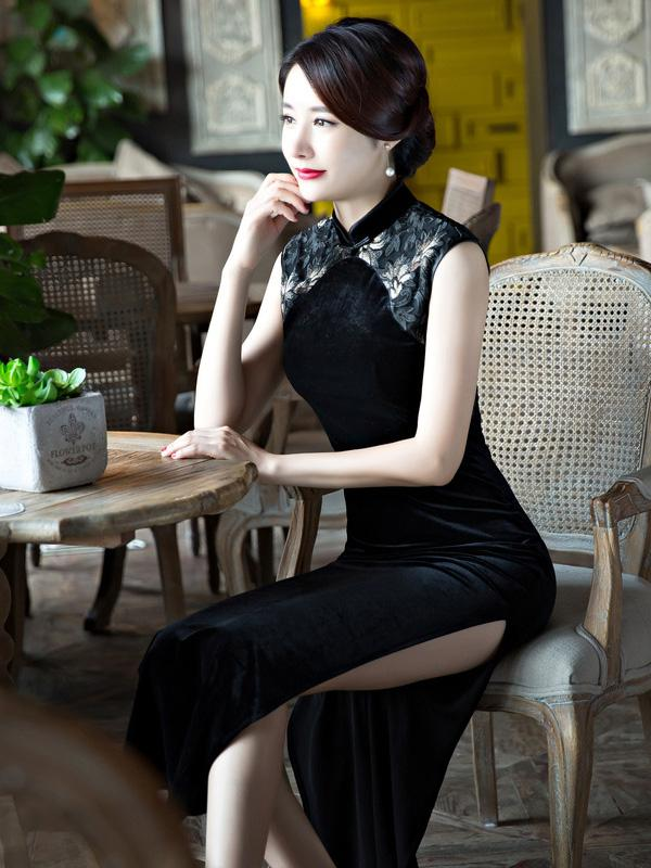 Original Long Dress in Black Color - Zebrant