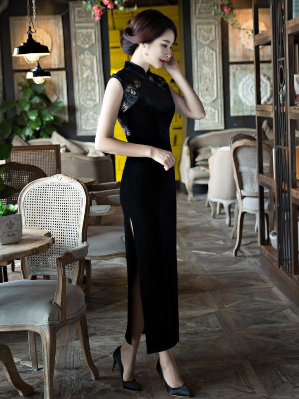 Original Long Dress in Black Color