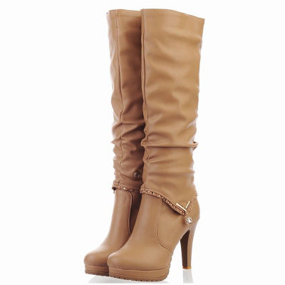 Fashion Solid Color Knight Boots - Zebrant