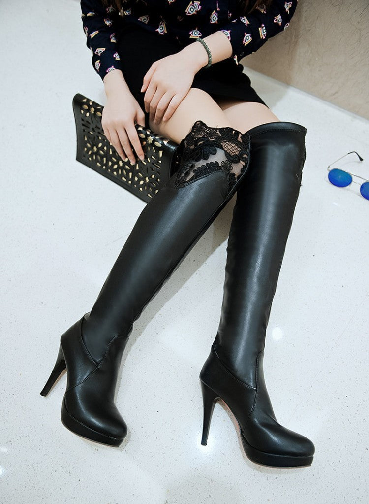 Fashion Trendy lace Up boots