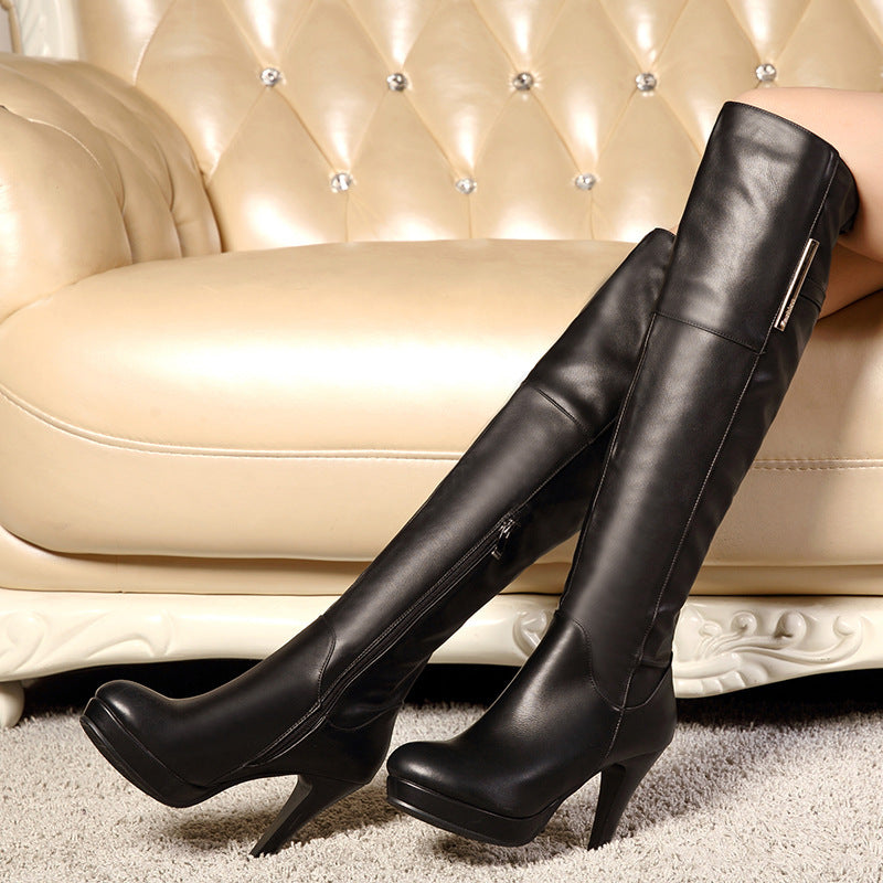 Lady High Boots over knee large boots - Zebrant