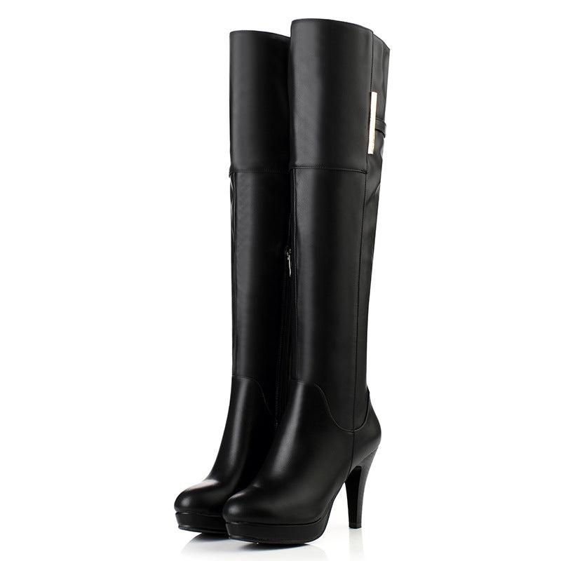 Lady High Boots over knee large boots