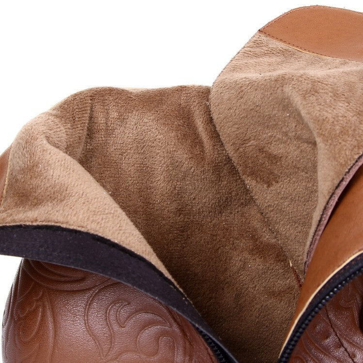 Fashion Cowhide short boots - Zebrant