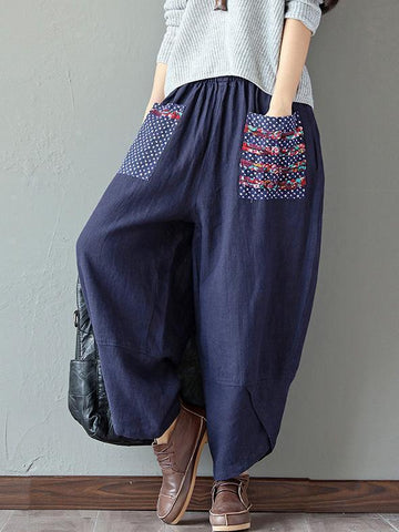 Ethnic-style Wide Leg Pants Bottom - Zebrant