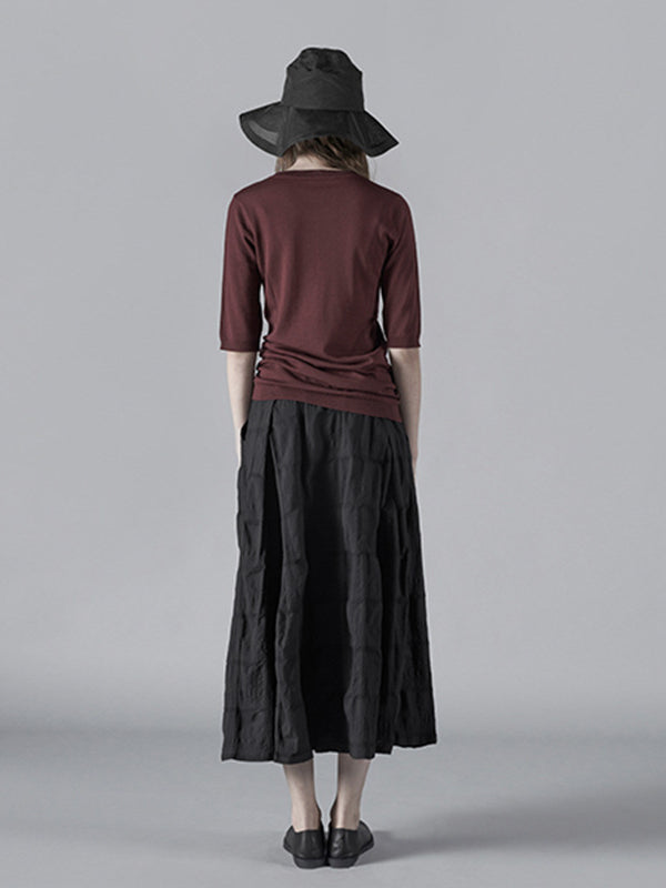 Simple Drawstring A-line Skirt - Zebrant