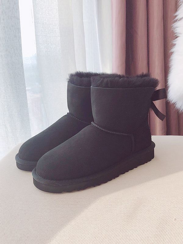 Short Tube Pure Wool Snow Boots Uggs - Zebrant