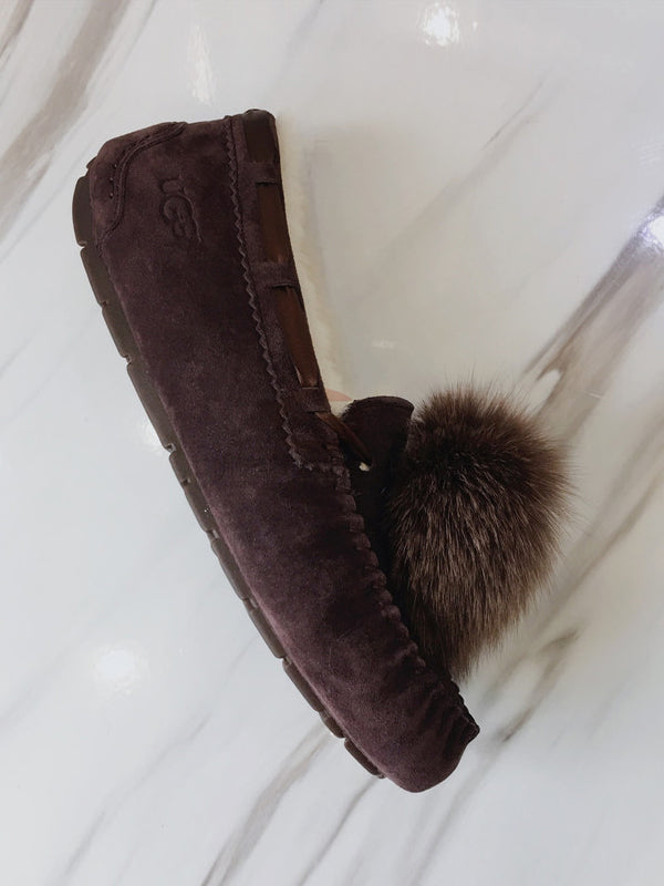 Artificial Fur Ball Shoes Fashion Snow Boots - Zebrant