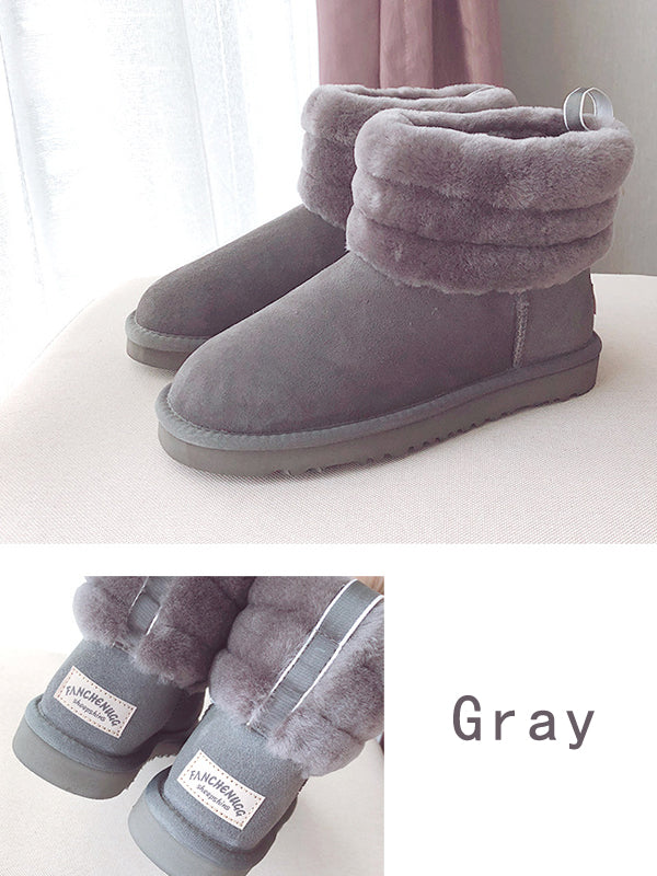 2018 Winter Waterproof Artificial Fur Warm Boots Uggs - Zebrant