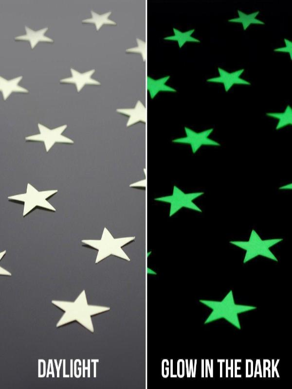 Christmas New Year Decoration Star Stickers Glowing in Dark - Zebrant