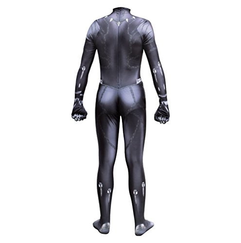 Black Panther Zentai Deluxe Polyester Jumpsuit Halloween Cosplay Costume